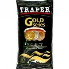 Прикормка TRAPER GOLD 1 кг Select (коричневый, красный, желтый)